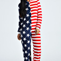 Millie USA flag Onesuit