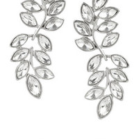 Kenneth Jay Lane Rhodium-plated crystal earrings – 50% at THE OUTNET.COM