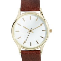ASOS Grandad Watch with Gold Case