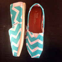 Mint Chevron Toms (Women)