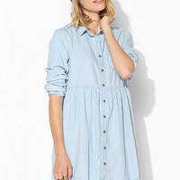 BDG Chambray Babydoll Shirtdress - Urban Outfitters