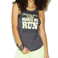 Chocolate Icing Makes Me Run Tank | Wet Seal