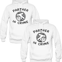 partners in crime couple Hoodies - TeeeShop
