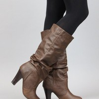 Qupid Neiman-25 Slouchy Knee High Boot