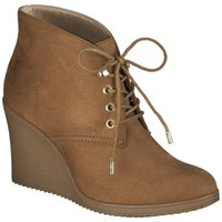 Women's Merona® Kadence Wedge Ankle Boot - Chestnut