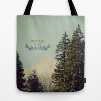 Happy Trails Tote Bag by RDelean
