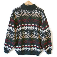 Soft Oversized Slouchy Men's Ugly Ski Sweater