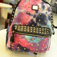 Cosmo Color Backpack with Rivet