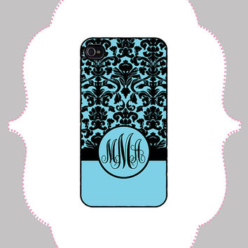 iPhone Case -Damask Monogram -iPhone 4/4s Case, iPhone 5 Case, Monogram Case, Personalized iPhone Case