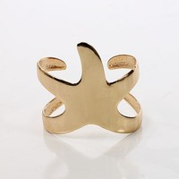 Starfish Cuff, Shiny gold