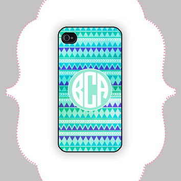 iPhone Case- Aztec Monogram- iPhone 4/4s Case, iPhone 5 Case, Personalized iPhone Case