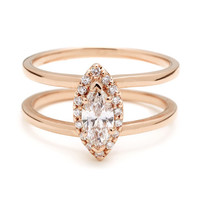 Attelage Marquis Diamond Ring | Anna Sheffield