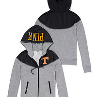 University of Tennessee Colorblock Zip Hoodie - PINK - Victoria's Secret