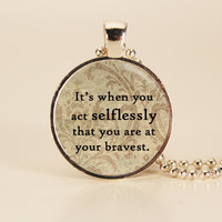 DIVERGENT Quote Charm Necklace
