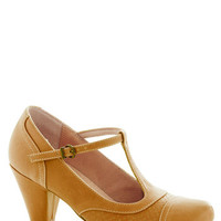 Just Like Honey Heel in Yellow | Mod Retro Vintage Heels | ModCloth.com