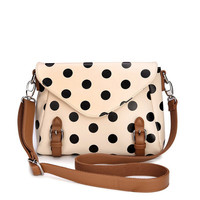 Fashion Dot Messenger Bag shoulder bag-camel from ChicCasesAndHomeProducts