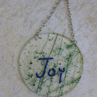 Joy Sun Catcher, Inspirational Suncatcher - Joy - 001 -3