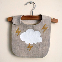 big cloud and lightening bib / READY TO SHIP