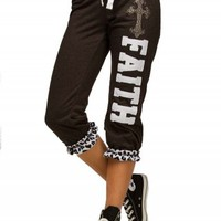 FAITH LEOPARD CUFF CROPS