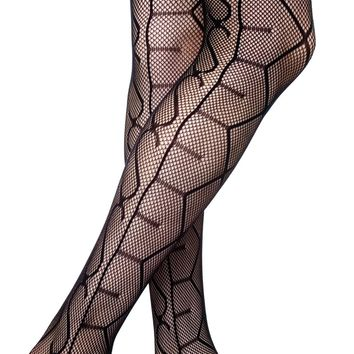 Lip Service Sex Thigh High Tights Black One