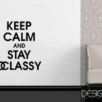 Coco Chanel Keep Calm and Stay Classy Vinyl Wall Art Wall Sayings ~ Matte Black~