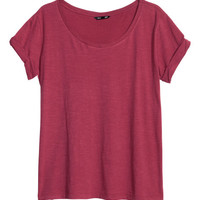 H&M - Top in Slub Jersey -