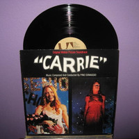 Rare Vinyl Record Carrie Original Soundtrack LP 1976 Stephen King Halloween Horror Classic DePalma