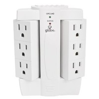 Globe Electric 7732001 The Original 6 Outlet Swivel Tap with Surge Protection