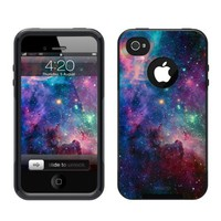 iPhone 4 / 4S Case Black Nebula Galaxy (Generic for Otterbox Commuter)