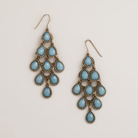 DUSTY BLUE CHANDELIER EARRINGS