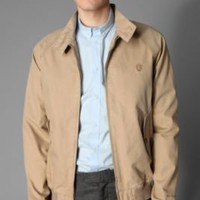 Ben Sherman Garment Washed Cotton Herringbone Bomber