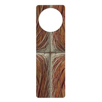 """Embroidered Cross"" Abstract Door Hanger"