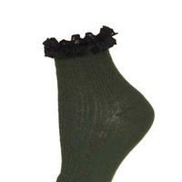 FOREST LACE TRIM ANKLE SOCKS
