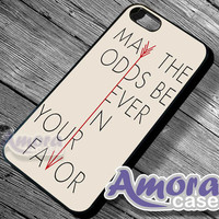 Hunger Game May the odd quotes - iPhone 4/4s/5 Case - Samsung Galaxy S3/S4 Case - Blackberry Z10 - Black or White