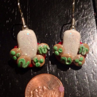 Milk & Cookies Earrings made with Sculpey clay