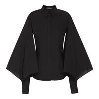 Stretch Cotton Blouson Shirt by Zac Posen for Preorder on Moda Operandi