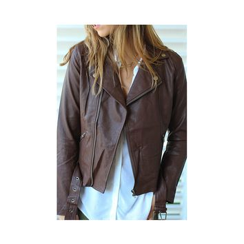 Bourbon Vegan Leather Jacket