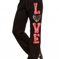 LACE LOVE SEQUIN SWEATPANTS