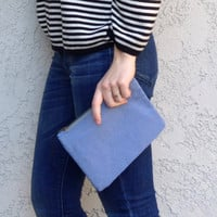 Small Going Out Clutch - Periwinkle Blue