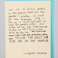 Logical Romance Card - Urban Outfitters