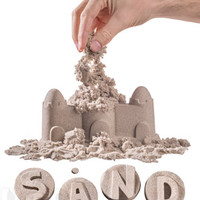 Sand by Brookstone: No-mess kinetic play sand