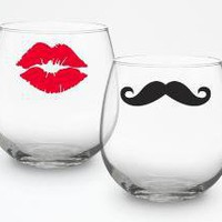 Stemless Wine Glasses Variety of styles and by modernmadness