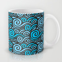 Wave Doodles Mug by Texnotropio