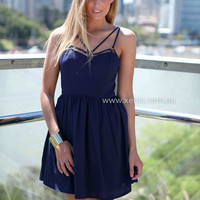 RULES OF ATTRACTION DRESS , DRESSES, TOPS, BOTTOMS, JACKETS & JUMPERS, ACCESSORIES, SALE, PRE ORDER, NEW ARRIVALS, PLAYSUIT, COLOUR, GIFT VOUCHER,,Blue,SLEEVELESS Australia, Queensland, Brisbane