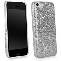 BoxWave Glamour & Glitz Apple iPhone 5c Case - Slim Snap-On Glitter Case, Fun Colorful Sparkle Case for your Apple iPhone 5c! - Apple iPhone 5c Cases and Covers (Silver Sparkles)