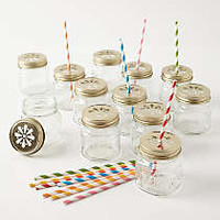 Mason Jar Sippers by Anthropologie Clear One Size Dinnerware