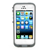 New Waterproof Shockproof Dirtproof Snowproof Protection Case Cover for Apple Iphone 5 (White)