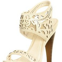 Off White Laser Cut Heels
