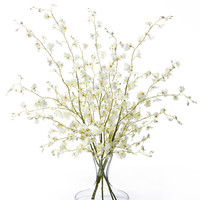 Dancing Oncidium Silk Orchids - White
