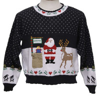 1980's Sweater Loft Womens Ugly Christmas Sweater
